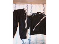 Adidas climalite blk/grey/white tracksuit size large