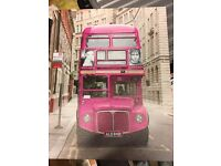 Pink bus canvas