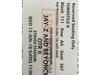 Beyonce and jay z tickets for manchester etihad