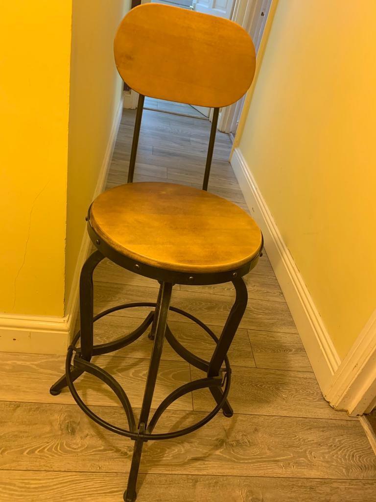 Sensational Vintage Industrial Bar Stool Height Adjustable Swivel Chair W Metal Foot In Uxbridge London Gumtree Frankydiablos Diy Chair Ideas Frankydiabloscom