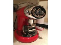 Red illy coffee machine