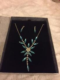 Boxed Necklace and drop Earrings