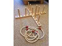 Cross and rope hoops