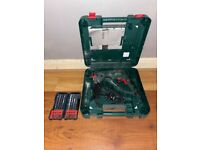 Bosch PBH 2100 re 550w rotary hammer drill with Bosch SDS+ hammer drill bits