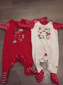Baby Unisex Winter / Christmas Sleepsuits (3-6 months)
