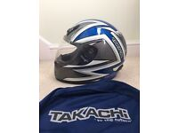 Crash helmet,Takachi TK30 medium,Blue/Grey/White,ACU gold approved only used 3 times as new with Bag
