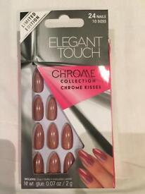 New - elegant touch chrome nails