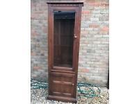 Ercol corner display cabinet vgc (can deliver)