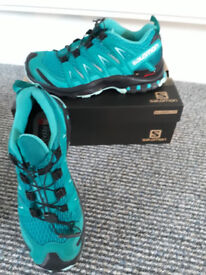 Salomon XA Pro 3D Womens Blue Trail Running Trainers, bought new, unsuitable, used once, size 6.5
