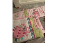 Cot bedding & mobile