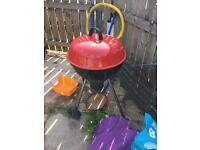 Large kettle drum bbq