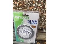 Car tax disc holder