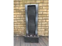 Barely Used Granite Ripple Wave Effect Garden Water Feature in Perfect Condition