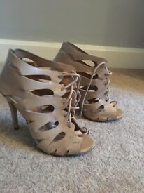 Primark nude lace up heels