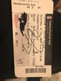 Ryan Sessingon Signed Ticket