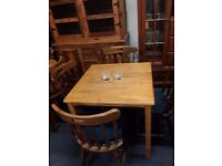 Small dining table with 4 x chairs