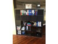 KALLAX 5x5 Shelving Unit from IKEA in Black With Inserts (RRP £150) -Low Price to Sell this Weekend!
