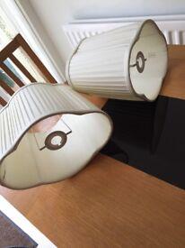 2 x Laura Ashley lampshades