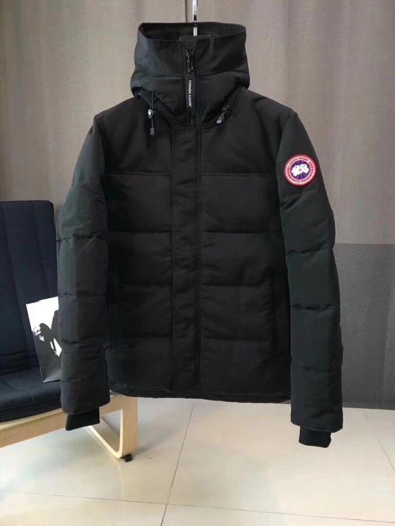 2b8dd00b25b7 BRAND NEW - Canada Goose MacMillan Parka Quilted Down Hooded Padded Jacket  BLACK - MEDIUM LARGE