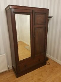 Antique mahogany wardrobe large (Pickup only)