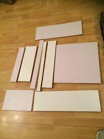 Gloss White Kitchen Cabinet Door + Shelf + Many Off Cuts