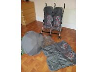 Double mothercare pushchair/ buggy
