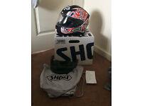 Brand New Shoei NXR Helmet Shayne Byrne with extra Dark Smoke Visor
