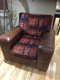 Price REDUCTION to £65 - Beautiful Brown Leather Modern Armchair