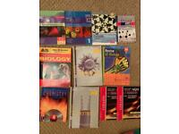 A level - Chemistry, Biology & Maths revision books
