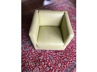 Olive green square Armchair
