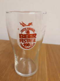 1986 9th Norwich Beer Festival Half Pint Glass