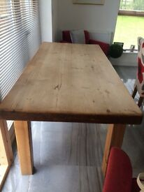 Wooden kitchens table & 6 chairs