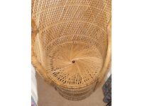 Retro Rattan, Cane, Wicker Domed Porter's Chair - She Shed or Conservatory
