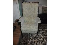 OLD WOODEN CHAIR GOOD CONDITION IDEAL FOR UPCYCLE PROJECT BARGAIN AT £15
