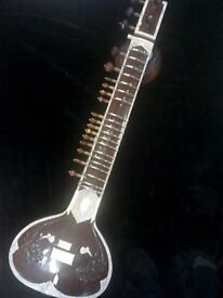 SITAR ~ DOUBLE TUMBA with case new strings.