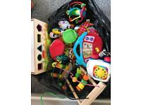Large bag of baby toys