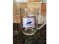 Football World Cup 98 1998 France Mug Glass Cup rare memorabilia