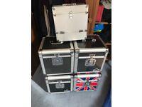 Vinyl record storage cases
