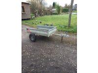 ATV / garden tractor trailer. 1m w x 1.6m l x 30cm d.