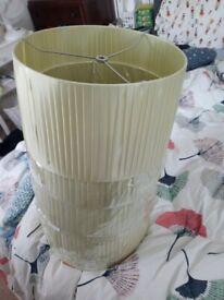 6 Large green lampshades