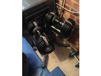 Bodymax Selectabell Dumbbell Pair 5kg - 32.5kg (11lb-71lb)