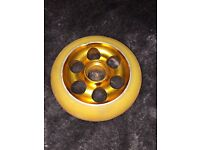 Gold scooter wheel