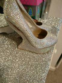 Diamanté shoes