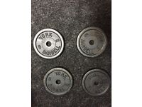 York iron Weights, Gym bench, dumbbells and EZ bar