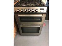 Zunssi gas cooker 60 cm silver brwan