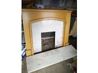 Fire place surround and matching marble hearth