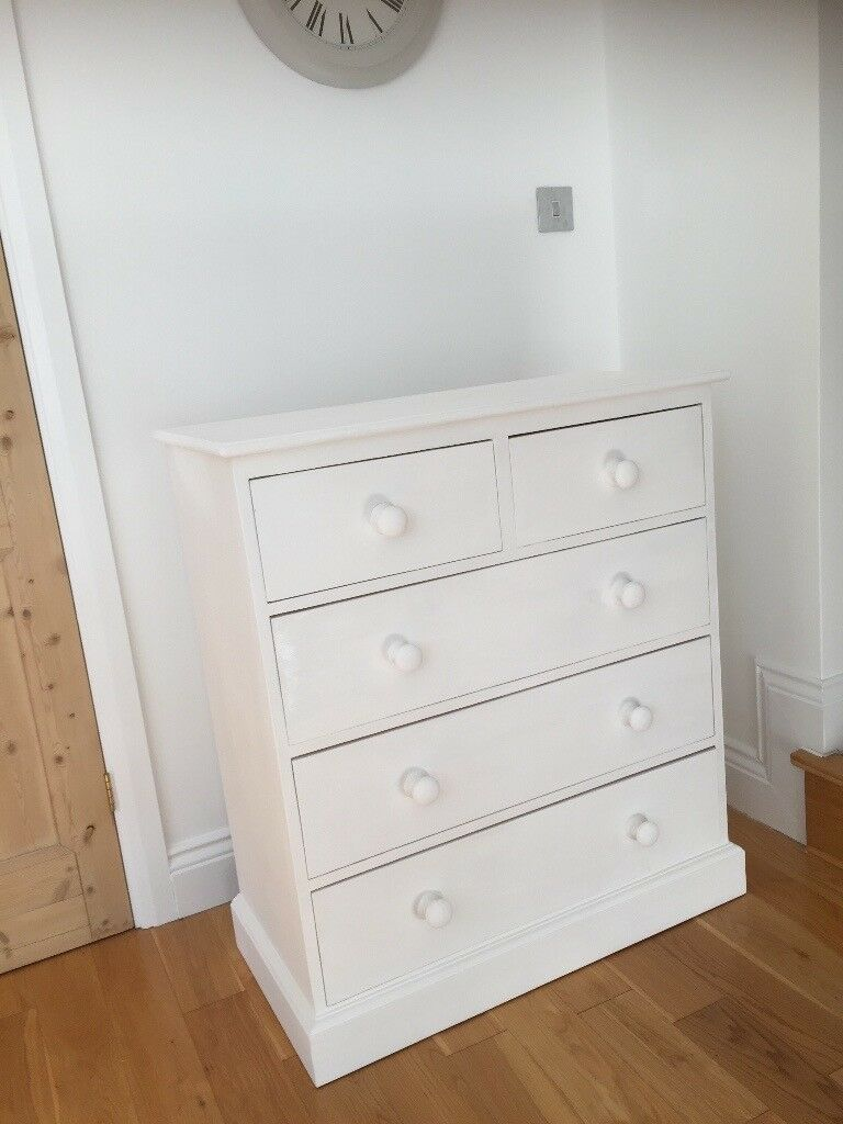 White Painted Wooden Drawers
