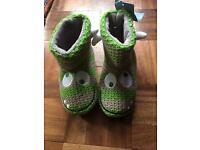 BNWT Boys monster slippers