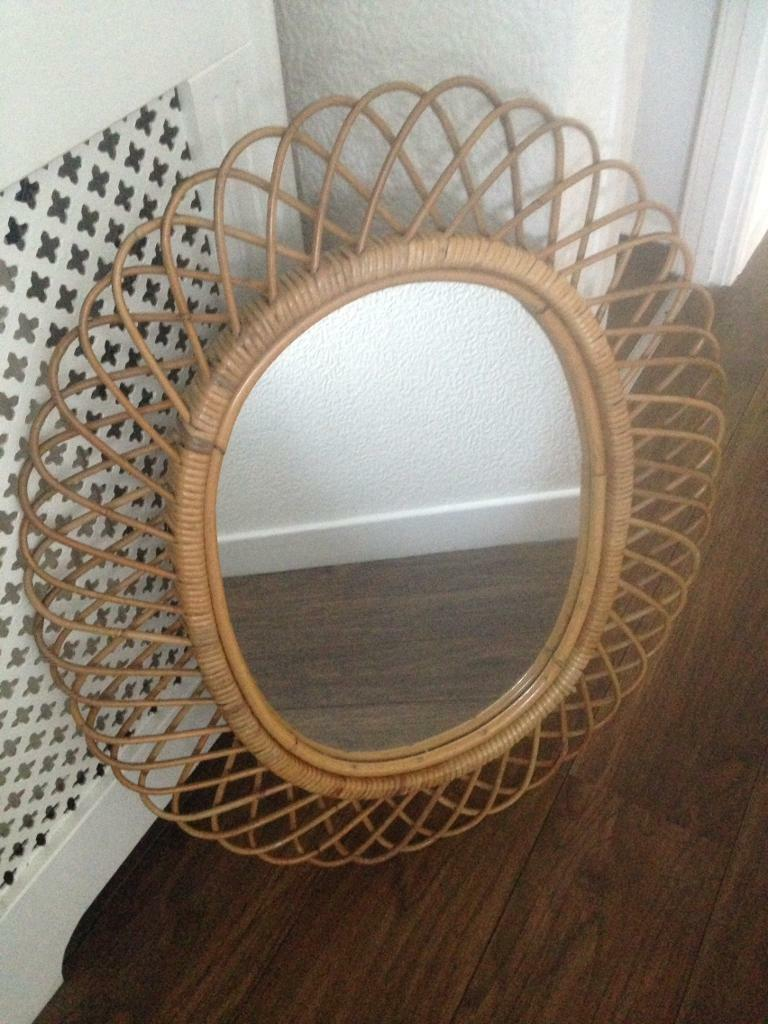 Large Round Bamboo Mirror In Chester Le Street County