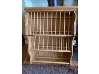 Wooden Plate Rack hand made